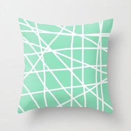 Doodle (White & Mint) Throw Pillow