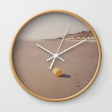Yellow bucket Wall Clock
