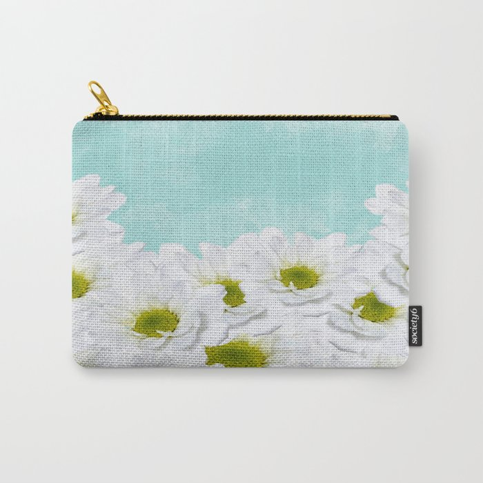Summer Day Floral - Daisies Carry-All Pouch