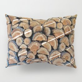 FIREWOOD WAITING IN THE WOODSHED Pillow Sham