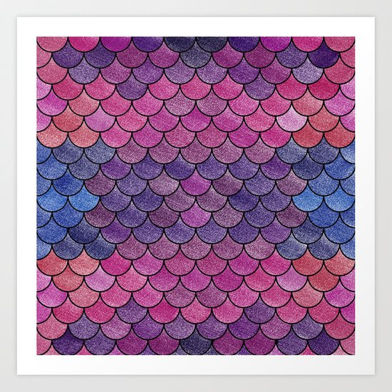 Lovely Pattern V (Glitter Version) Art Print