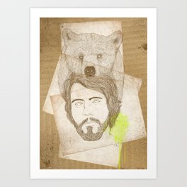 mr.bear-d Art Print