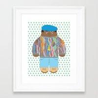 biggie Framed Art Prints featuring Biggie by Late Greats by Chen Reichert