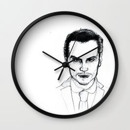 Andrew Scott as Jim Moriarty from Sherlock Etching Wall Clock