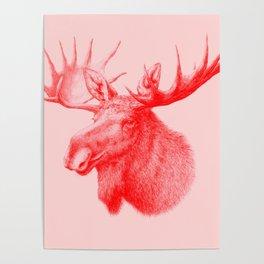 Moose red Poster
