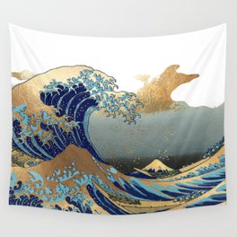 The Great Waves by Hokusai Wall Tapestry