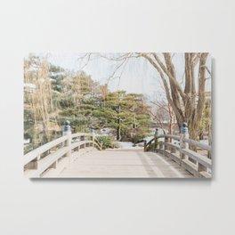 Winter at the Japanese Garden, No 3 Metal Print