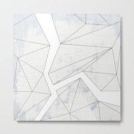 Fracture - White Metal Print