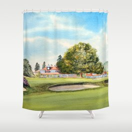 Sunningdale Golf Course 18th Green Shower Curtain
