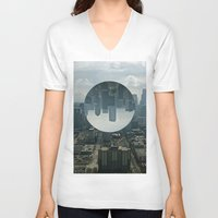 seattle V-neck T-shirts featuring Seattle by Ezekiel