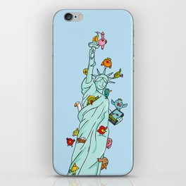 The Birds Liberty Statue iPhone Skin