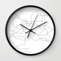 seoul Wall Clocks featuring Seoul Subway by indelible international