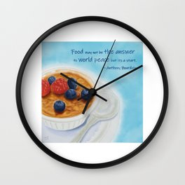 Food May Not Be the Answer Wall Clock