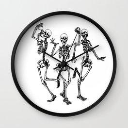 Three Dancing Skulls Wall Clock