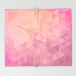 Geometric Pink  Throw Blanket