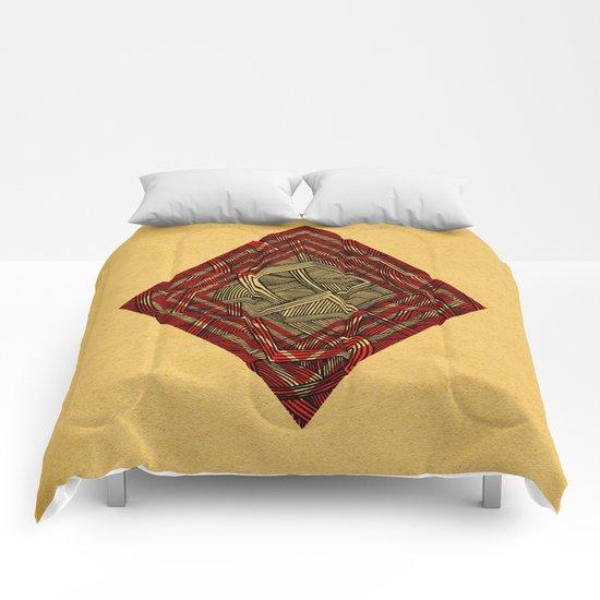 - lines of diamonds - Comforters