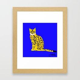 Bengal in Blue Framed Art Print