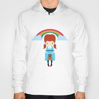 oz Hoodies featuring Dorothy Wizard of Oz by Steph Dillon