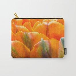 Peach Ruffles Carry-All Pouch
