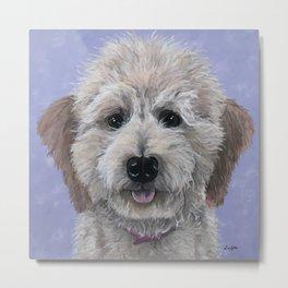 Dog Art, Golden-Doodle, Labradoodle Painting Metal Print