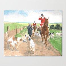 Foxhunt 3 Canvas Print