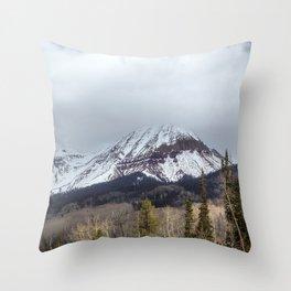 Engineer Mountain Colorado Throw Pillow