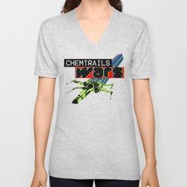CHEMTRAILS WARS Unisex V-Neck