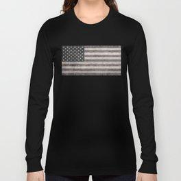 American flag, Retro desaturated look Long Sleeve T-shirt