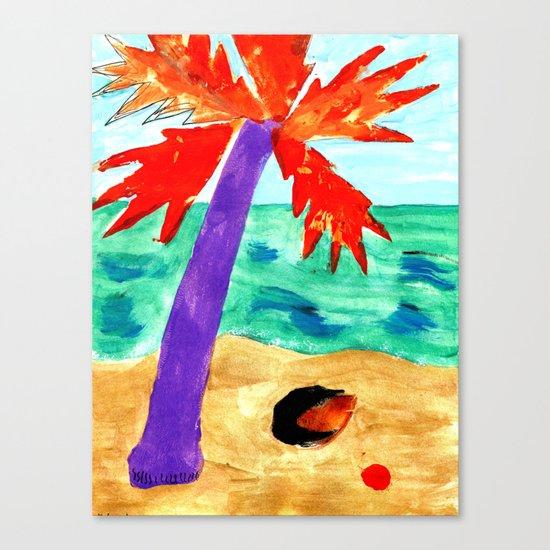 Black Coconut Canvas Print