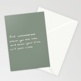 Your Time Will Come Stationery Cards