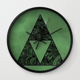 Triforce on Green Wall Clock