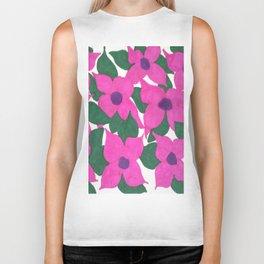Spring Classic Pink Flowers Biker Tank