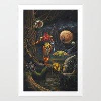 Moonlights of Zebes Art Print