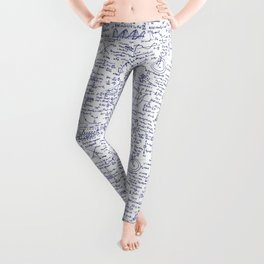 Physics Equations in Blue Pen Leggings
