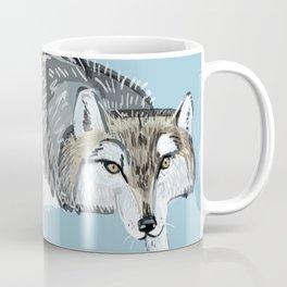 Totem Hokkaido grey wolf (Blue) Coffee Mug