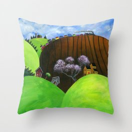 Hilly Humbly Throw Pillow