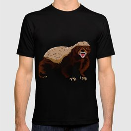 Honey badger illustration T-shirt