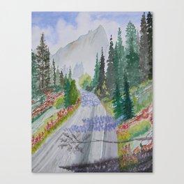 Biking The Mountains 2 Canvas Print
