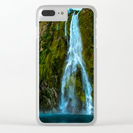 Fiordland Waterfall - Milford Sound, New Zealand Clear iPhone Case