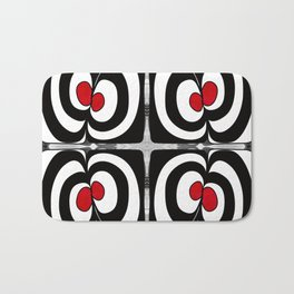 Cheshire Cat Abstract Bliss Art  by Omashte Bath Mat