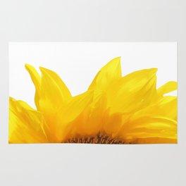yellow sunflower Rug