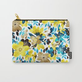 Happy Yellow Flower Collage Carry-All Pouch