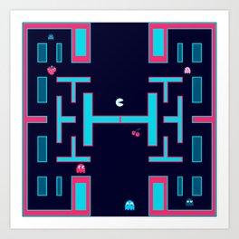 Pacman #36DaysOfType Art Print
