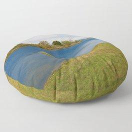 Assateague Island Marsh Floor Pillow