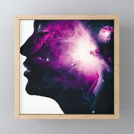 Galaxy Woman Framed Mini Art Print