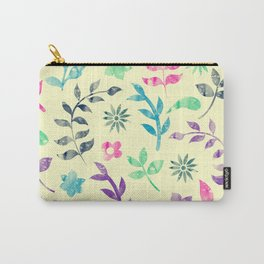 Colorful Floral Pattern V Carry-All Pouch