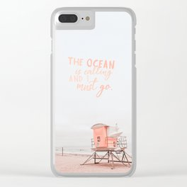 Ocean Is Calling Clear iPhone Case