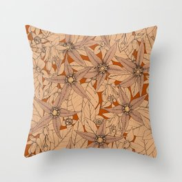 deadly nightshade rust Throw Pillow