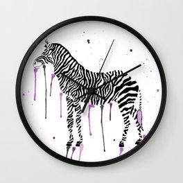 Watercolor Zebra Wall Clock