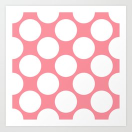 Polka Dots Pink Art Print